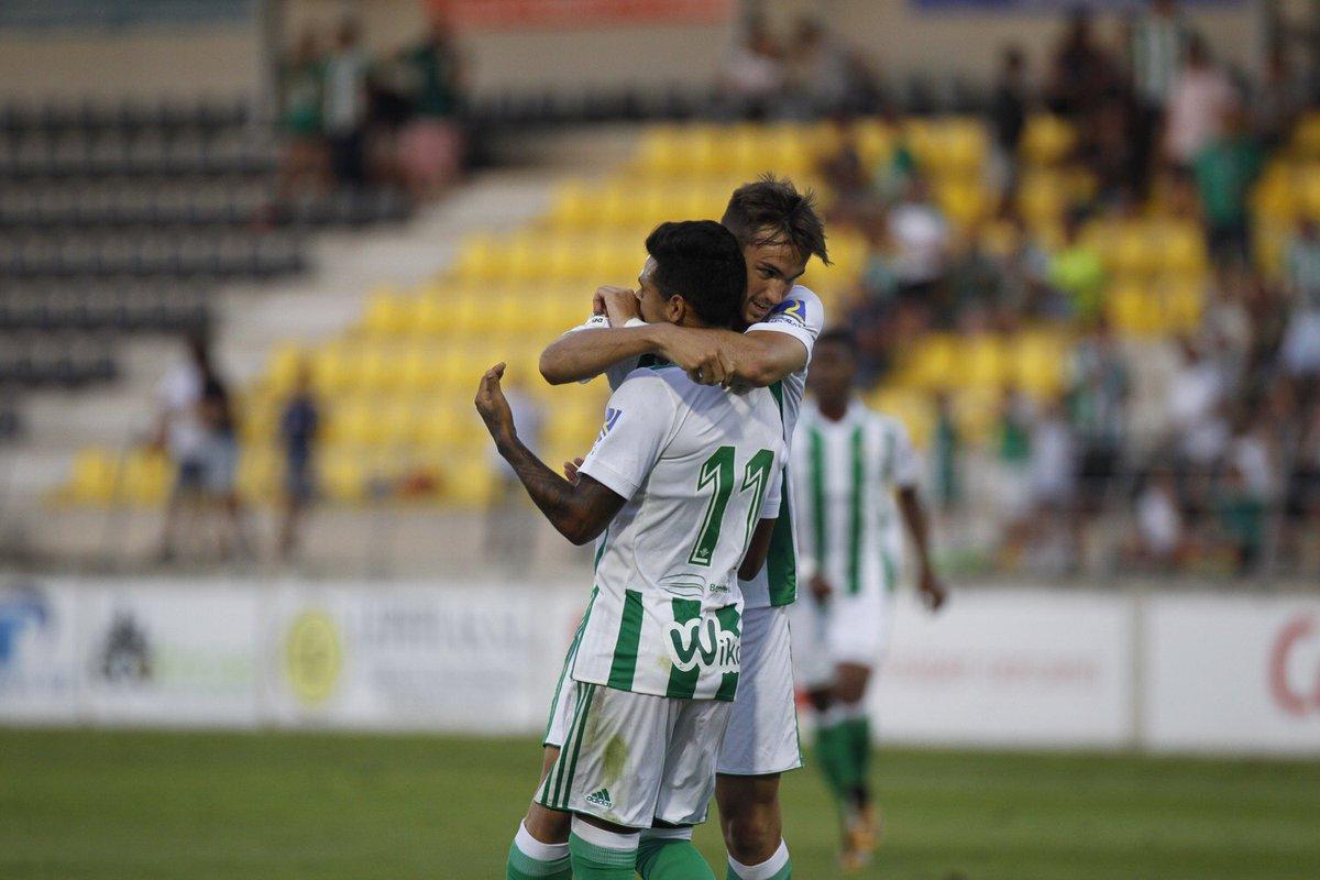 Celebración del gol de la victoria Betis 1 Vitoria CF 0